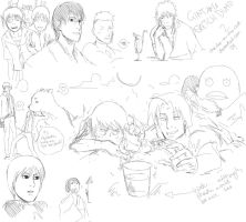 Gintama sketch dump 2 by chocobo-on-clay-crak