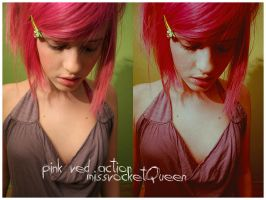 Pink red PS action by missrocketqueen