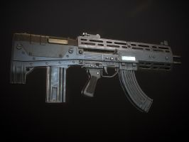 Double-Barreled Assault Rifle #3 by Kutejnikov