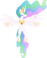 Celestia Flying by Racefox