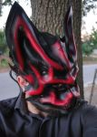 Alpha Wolf Ruby Leather Mask by Epic-Leather