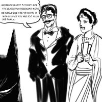 Supes and WW prank Batman by JohnsDead