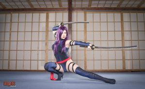 Psylocke in Training by bgzstudios