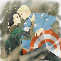 steve and loki by royacc