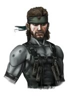 Solid Snake by buka-limon