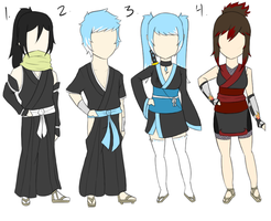 Custom Adoptables for xXPassing LightXx ::Bleach:: by FudgeNugget