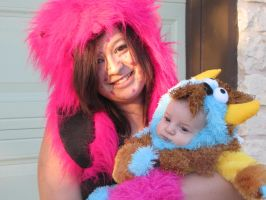Mommy and Baby monster stock by Skysofdreams-Stock
