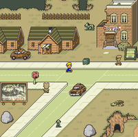 Fallout: Earthbound style by gilamasan