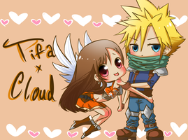 Tifa X Cloud by ChibiGoneWild