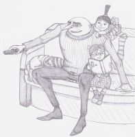 DM - Gru and the girls by yerali