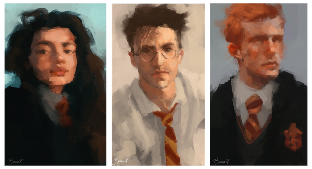 Golden trio by blvnk-art