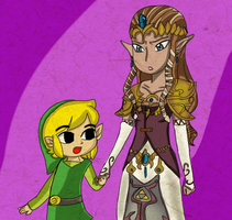 request: Toon  Link and TP Zelda by TeLinkfan1
