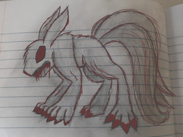 Random monster fox thingy (with some red lines by speedcow12