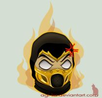 Mortal Kombat emoticon series: Scorpion by Agi-ka