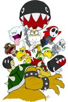 Bowser's Army - FLATS by vergeofsanity