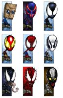Mini Spideys by halwilliams