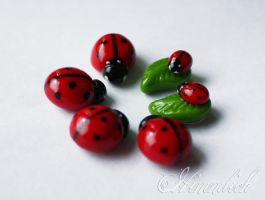 Fimo ladybird by Himmlich