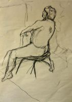 life drawing 8 minutes A1 by Tallis