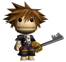 Sora Sackboy by o0DemonBoy0o