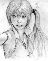 Serah - Pencil Art by NipahCos