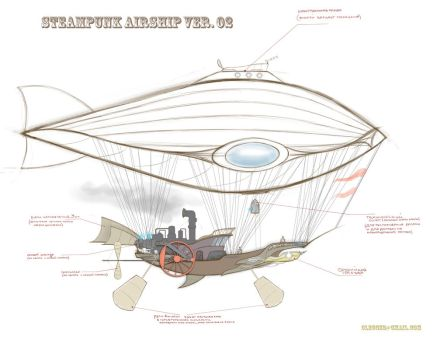 Steampunk Airship v2 by z-Gen