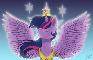 Princess Twilight Sparkle by KyraDraws