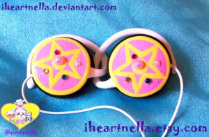 Mini Sailor Brooch Headphones by Iheartnella