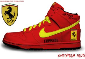 Nike Airdunk High Ferrari 458 Spider Edition by C4RS200