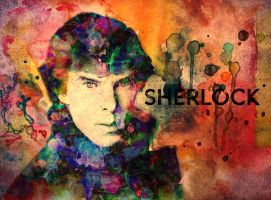 Sherlock Watercolor by crystalcollecter