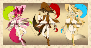 Adoptable: Neapolitan Musketeers [CLOSED] by tofumi