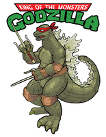 Cowabungodzilla: Teenage Mutant Ninja Kaiju by WithintheMechanism