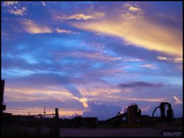Industrial Park Sunset by ToastSYN
