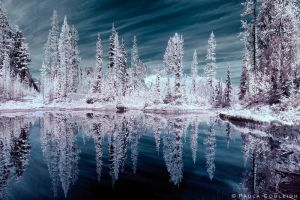 Infrared Tarn by La-Vita-a-Bella