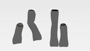 [MMD DL] One Up, One Down Legwarmers by Fabulous-Goitsu