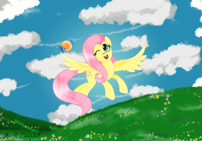 Fluttershy by MermaidSoupButtons