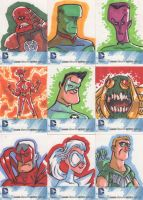 DC Sketch cards 4 by JeffVictor