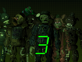 The Return To Freddy's 3 All Animatronics by TheSitciXD
