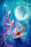 Starry Fish by vixentheangryfox