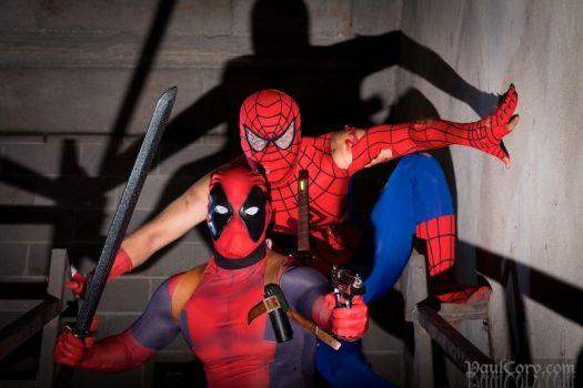 Spidey n Deadpool Duo by TS-Calibrate