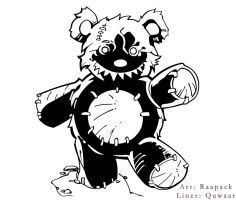 Psycho Killer Beary Weary by Quwaar