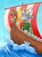 Viking Rat ATC by tursiart