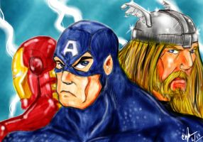 Avengers Sketch Colors by Mawnbak