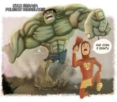 Hulk vs Chapolin Colorado by privect