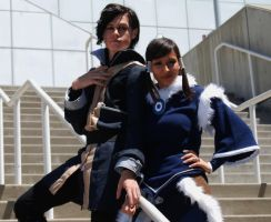 Amazing Tahno and Korra cosplay by YoruichiNyow