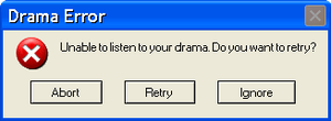 Unable To Listen To Your Drama by MrAngryDog