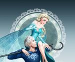 Jack Frost and Elsa by lydia-the-hobo