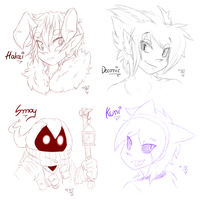 Bust Sketches -Commissions Batch #1 by AR-ameth