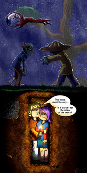 Terraria: Hole in the ground by CitrusRain