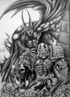 Batman ft Judge Dredd by Xpendable