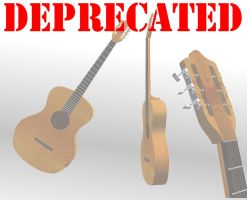 [MMD] Acoustic guitar [Deprecated] by Wampa842